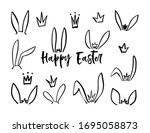 hand drawn icon with black... | Shutterstock .eps vector #1695058873