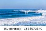 Ocean Sea Waves Rolling Toward...