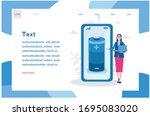 full charge  battery in mobile. ...   Shutterstock .eps vector #1695083020