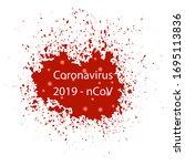 raster blood splash isolated on ...   Shutterstock . vector #1695113836