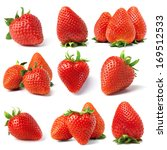 set from strawberry berries.... | Shutterstock . vector #169512533