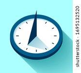 Sundial Clock Icon In Flat...