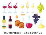 cartoon wine vector... | Shutterstock .eps vector #1695145426