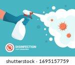 coronavirus protection. man in... | Shutterstock .eps vector #1695157759
