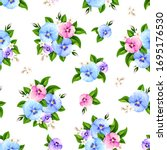 vector seamless pattern with... | Shutterstock .eps vector #1695176530