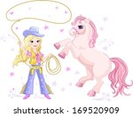 cowgirl lasso and pony | Shutterstock .eps vector #169520909