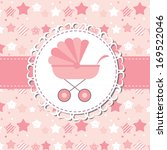 illustration of pink baby... | Shutterstock . vector #169522046