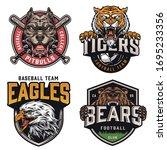 sports teams vintage colorful... | Shutterstock .eps vector #1695233356