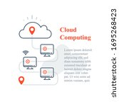 cloud computing system  remote... | Shutterstock .eps vector #1695268423