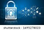 medical healthcare quarantine... | Shutterstock .eps vector #1695278023