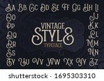 vintage style typeface set with ...   Shutterstock .eps vector #1695303310
