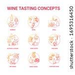 wine tasting concept icons set. ...   Shutterstock .eps vector #1695316450
