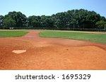 Baseball Field Behind Home Plate