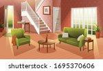 vector interior cartoon style... | Shutterstock .eps vector #1695370606