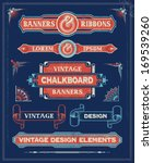vintage banners and ribbon... | Shutterstock .eps vector #169539260