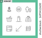 pictogram set of 9 simple...