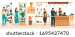 flowers and plants florist shop ... | Shutterstock .eps vector #1695437470