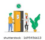 patient visiting hospital for...   Shutterstock .eps vector #1695456613