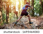A Man Runner Of Trail And...