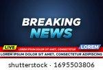 template for breaking news... | Shutterstock .eps vector #1695503806