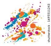 ink stains grunge background... | Shutterstock .eps vector #1695511243