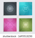 abstract plate music album... | Shutterstock .eps vector #1695513250