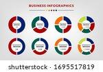pie chart infographic set....