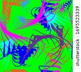 endless pattern on a green... | Shutterstock .eps vector #1695523339