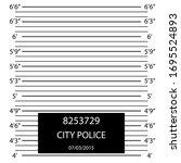 cartoon police lineup mugshot... | Shutterstock .eps vector #1695524893