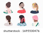 set of young ladies with... | Shutterstock .eps vector #1695530476