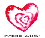 red heart by hand from water... | Shutterstock . vector #169553084