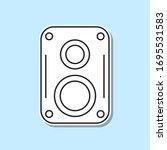 music speaker sticker icon....