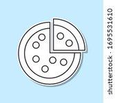 pizza sticker icon. simple thin ...