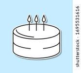 birthday cake sticker icon....