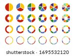 pie chart icon set. flat...