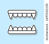 vampire's teeth sticker icon....