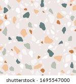 terrazzo seamless pattern.... | Shutterstock .eps vector #1695547000