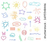 hand drawn symbols and shapes.... | Shutterstock . vector #1695548446