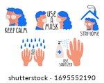 recommendations for prevention... | Shutterstock .eps vector #1695552190
