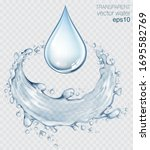 Blue Transparent Water Splashes ...