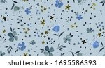 hand painting abstract... | Shutterstock . vector #1695586393