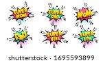 comic text speech bubble in... | Shutterstock .eps vector #1695593899