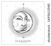 modern magic witchcraft card...   Shutterstock .eps vector #1695613540