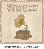 retro 50s gramophone stylish...