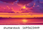 Sea Sunset. Tropical Landscape...