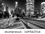 downtown skylines lit up at... | Shutterstock . vector #169562516
