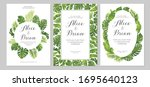 wedding invitations set. cards... | Shutterstock .eps vector #1695640123