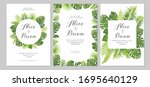 wedding invitations set. cards... | Shutterstock .eps vector #1695640129