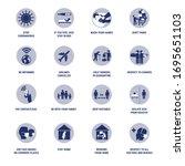 coronavirus infographic icons.... | Shutterstock .eps vector #1695651103