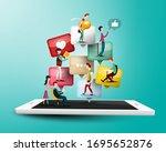 internet connection concept...   Shutterstock .eps vector #1695652876